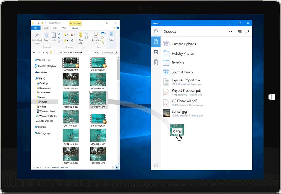 Dropbox Windows 10