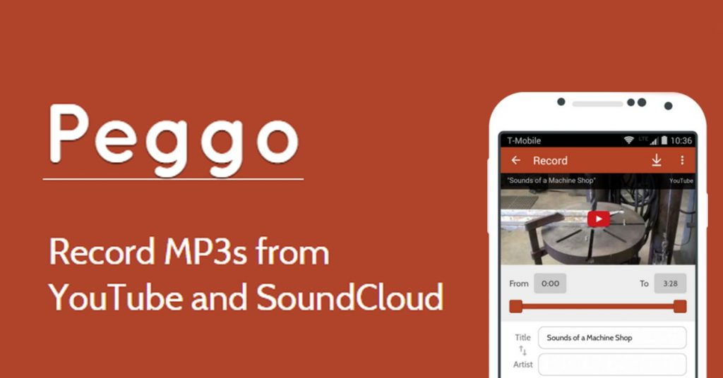 Peggo MP3 & MP4 Recorder Comes With Metadata Capture And